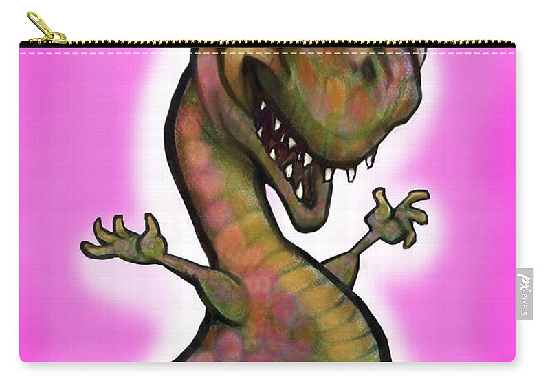Babyzilla Carry-all Pouch featuring the greeting card Babyzilla by Kevin Middleton