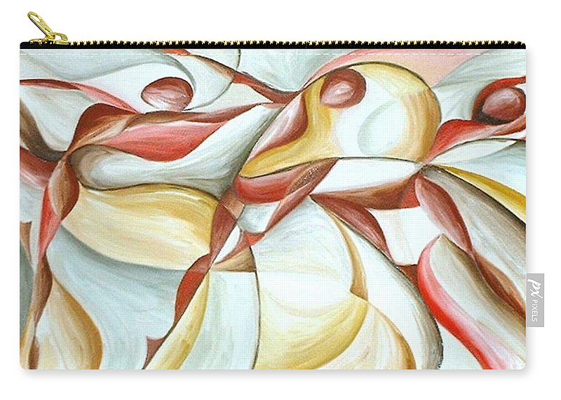 Figure Carry-all Pouch featuring the painting Bacchanal by Rowena Finn