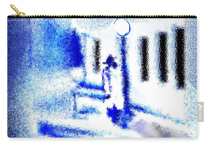 Back Alley Carry-all Pouch featuring the digital art Back Alley Rendezvous by Seth Weaver