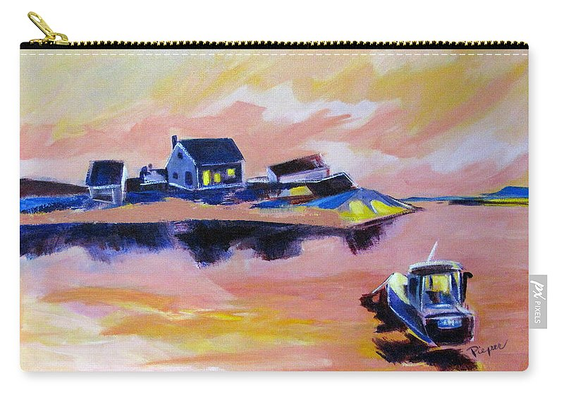 Back Bay Carry-all Pouch featuring the painting Back Bay by Betty Pieper