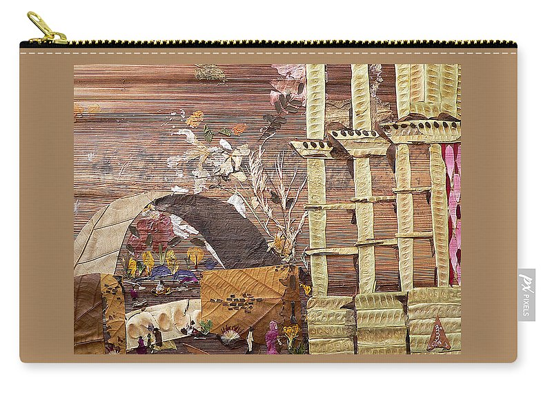 Back Door Entry For Relief To Disabled Carry-all Pouch featuring the mixed media Back Entry by Basant soni