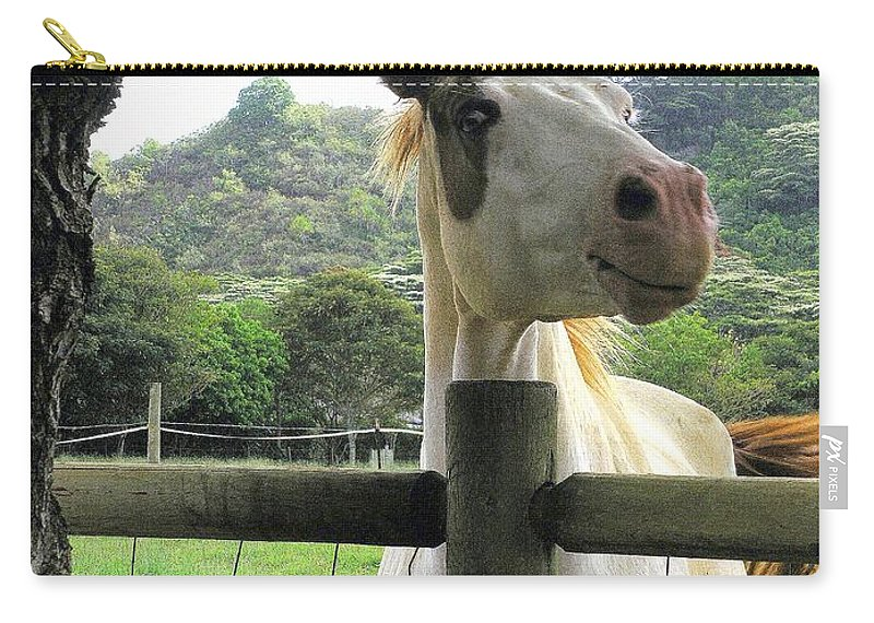 Animals Carry-all Pouch featuring the photograph Back Fence Gossip by Mary Deal