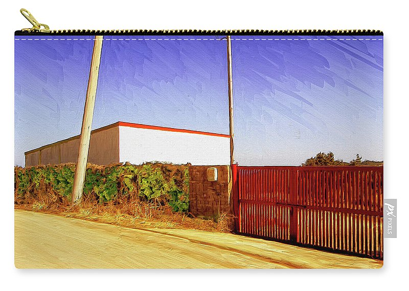 Industrial Carry-all Pouch featuring the painting Back Gate by Dominic Piperata