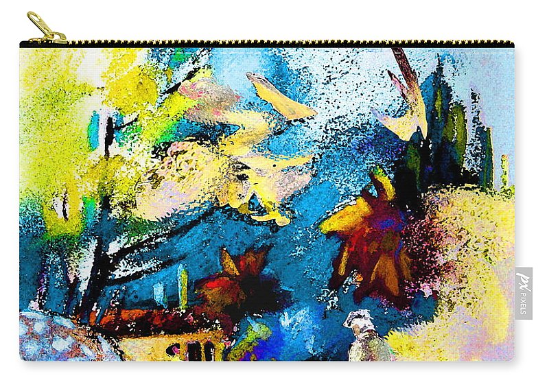 Pastel Painting Carry-all Pouch featuring the painting Back Home by Miki De Goodaboom