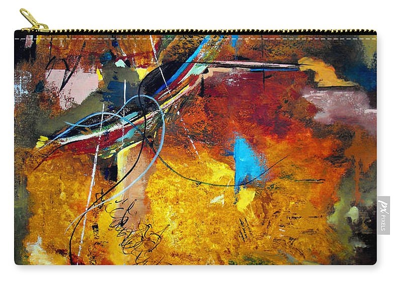 ruth Palmer Carry-all Pouch featuring the painting Back In The Saddle Again by Ruth Palmer