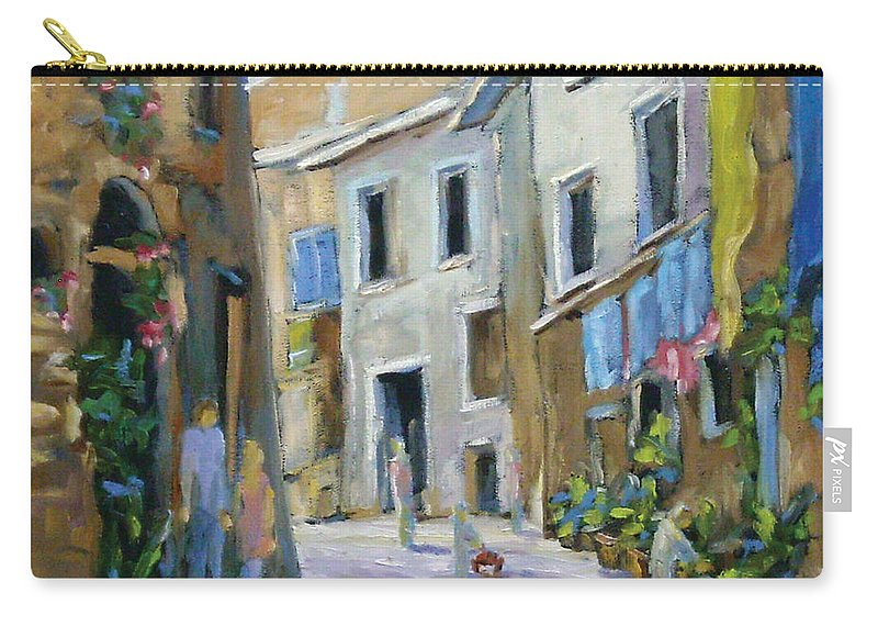 Urban Carry-all Pouch featuring the painting Back Street by Richard T Pranke