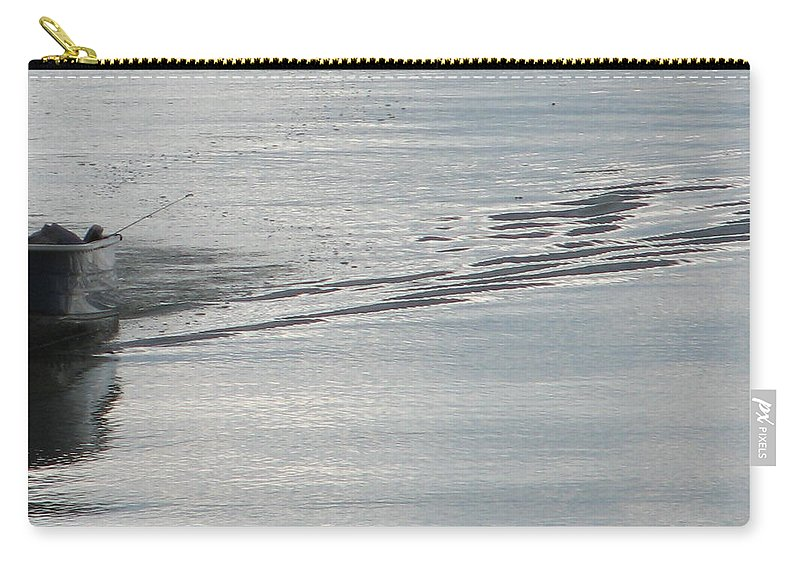 Lake Carry-all Pouch featuring the photograph Back To The Dock by Kelly Mezzapelle