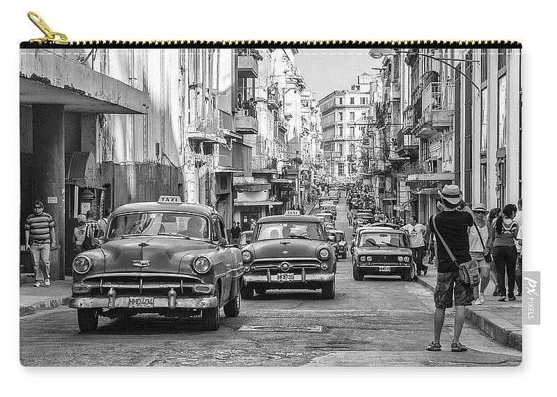 Cuba Carry-all Pouch featuring the photograph Back To The Past by Marla Craven