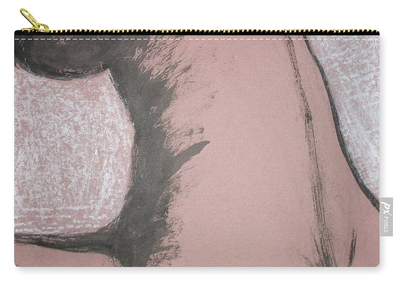 Original Carry-all Pouch featuring the painting Back Torso by Carmen Tyrrell