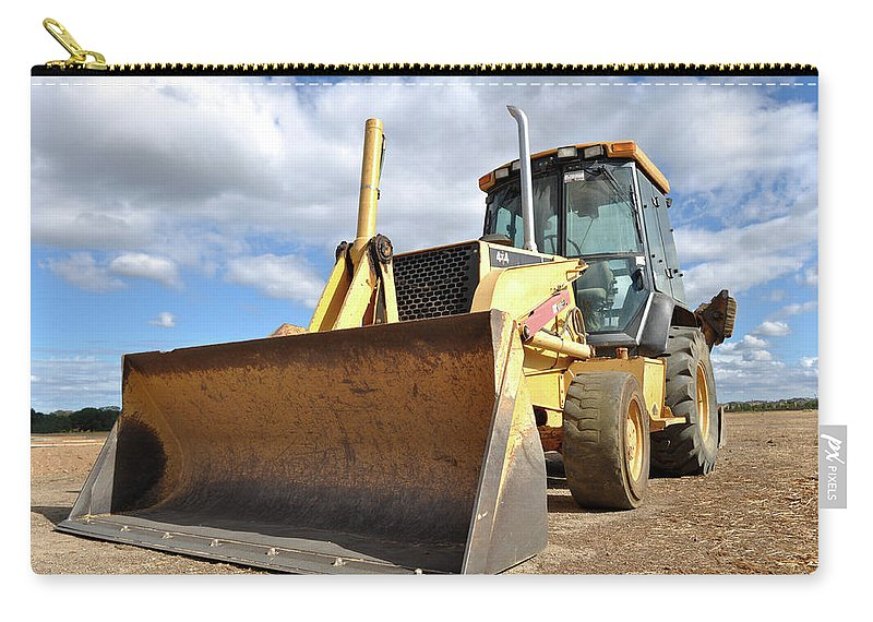Backhoe Carry-all Pouch featuring the photograph Backhoe Tractor Construction by Brandon Bourdages