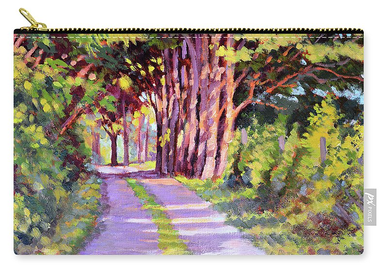 Road Carry-all Pouch featuring the painting Backroad Canopy by Keith Burgess