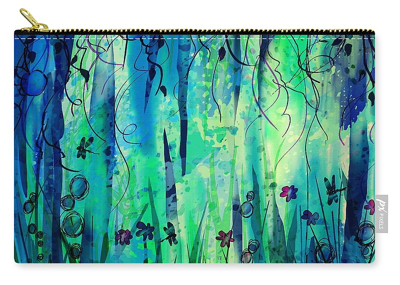 Abstract Carry-all Pouch featuring the digital art Backyard Dreamer by William Russell Nowicki