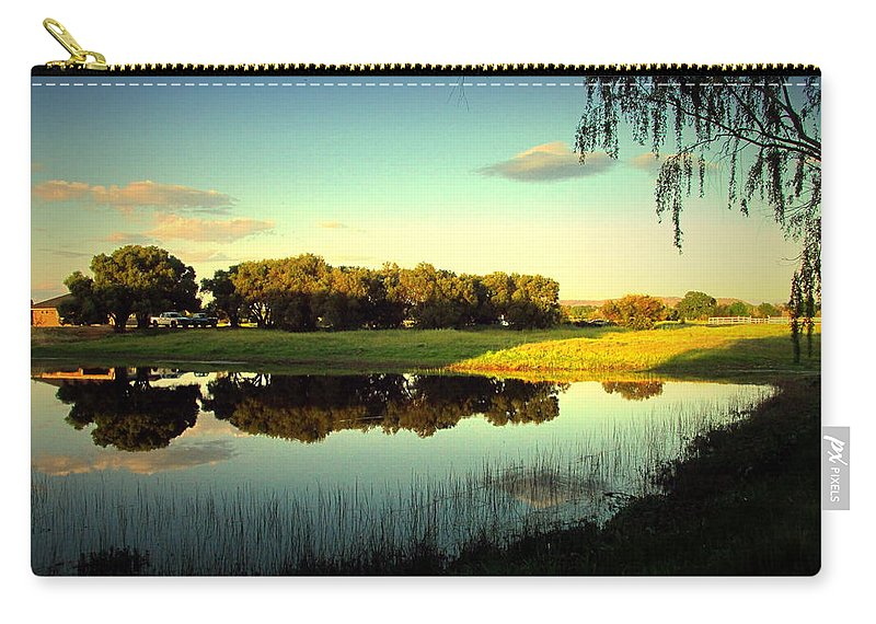 Backyard Carry-all Pouch featuring the photograph Backyard Paradise by Joyce Dickens