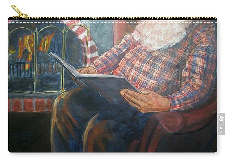 Christmas Carry-all Pouch featuring the painting Bad Rudolph by Bryan Bustard