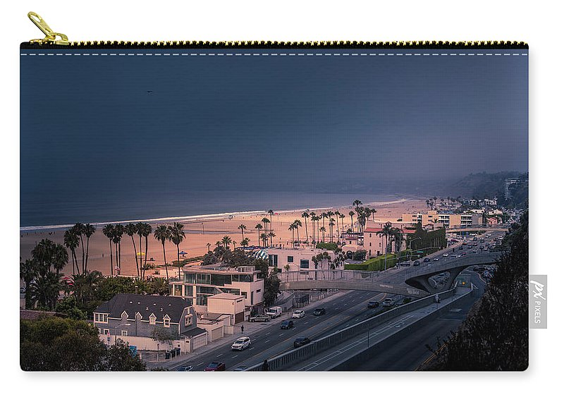 Santa Monica Carry-all Pouch featuring the photograph Bad Weather-2 by Gene Parks