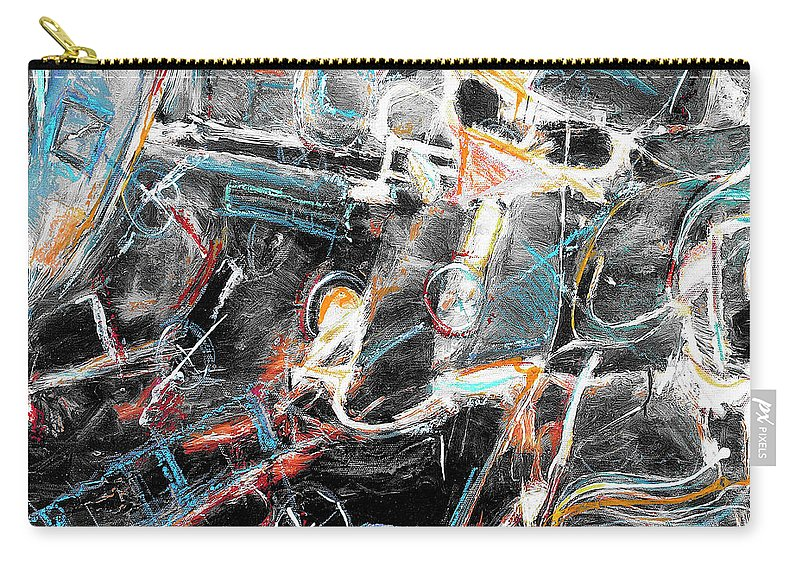 Abstraction Carry-all Pouch featuring the painting Badlands 2 by Dominic Piperata