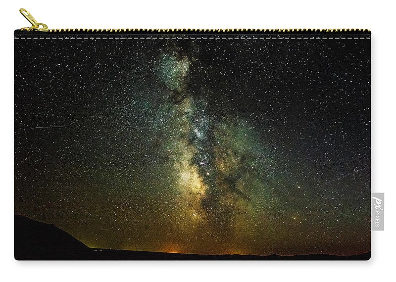 Badlands. South Dakota Carry-all Pouch featuring the photograph Badlands Milky Way by Kevin Esterline