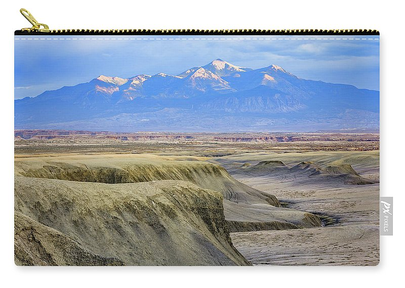 Factory Carry-all Pouch featuring the photograph Badlands Of Utah by Wick Smith