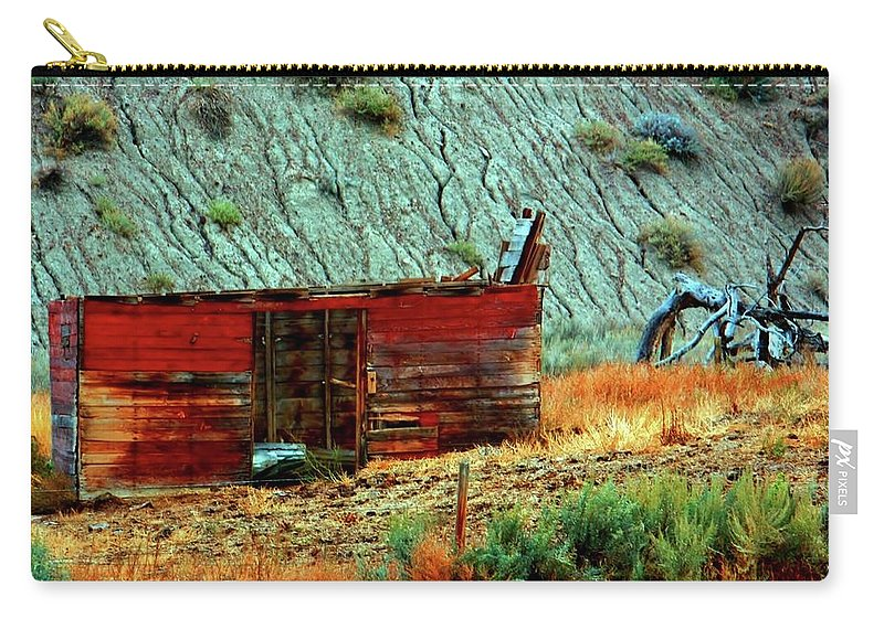 Calgary Carry-all Pouch featuring the photograph Badlands by William Rockwell