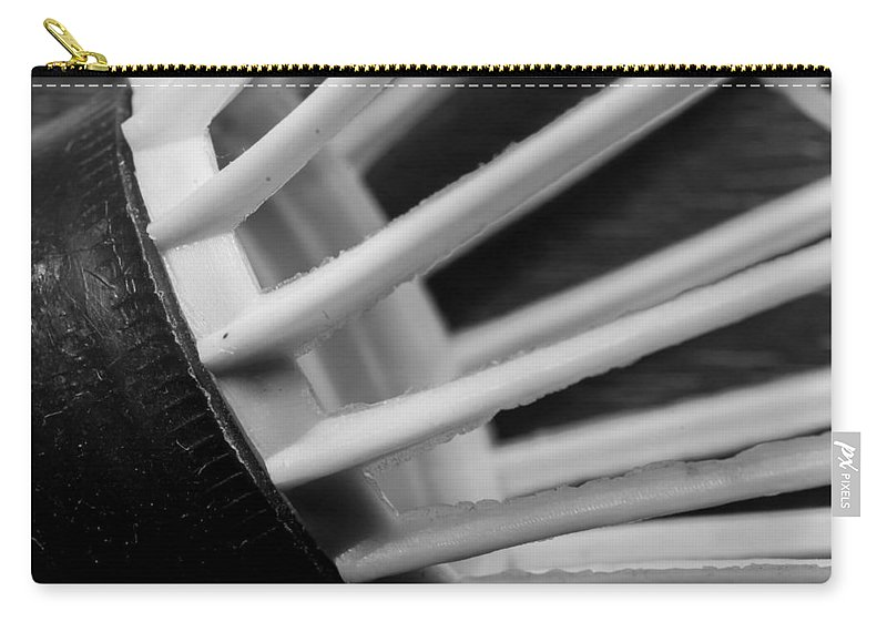 Monochrome Carry-all Pouch featuring the photograph Badminton Shuttlecock Abstract Monochrome by John Williams