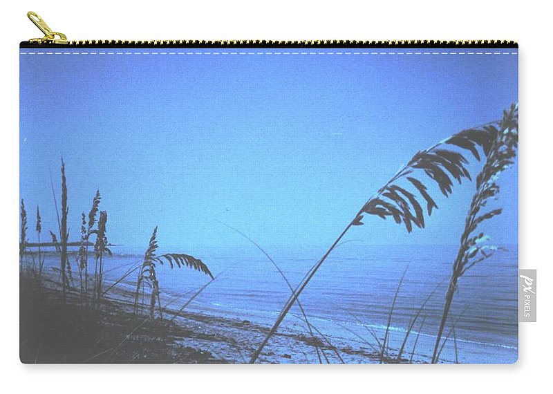 Carry-all Pouch featuring the photograph Bahama Blue by Ian MacDonald