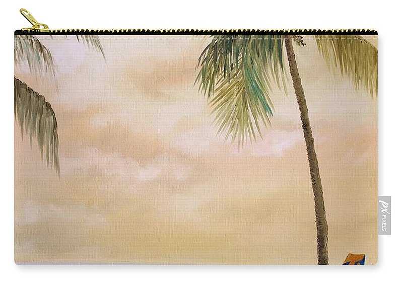 Airplane Carry-all Pouch featuring the painting Bahama Bound by Nadia Bindr