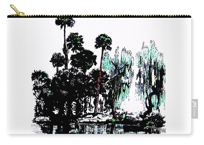 Landscape Carry-all Pouch featuring the painting Bahia San Lucas by Roberto Prusso