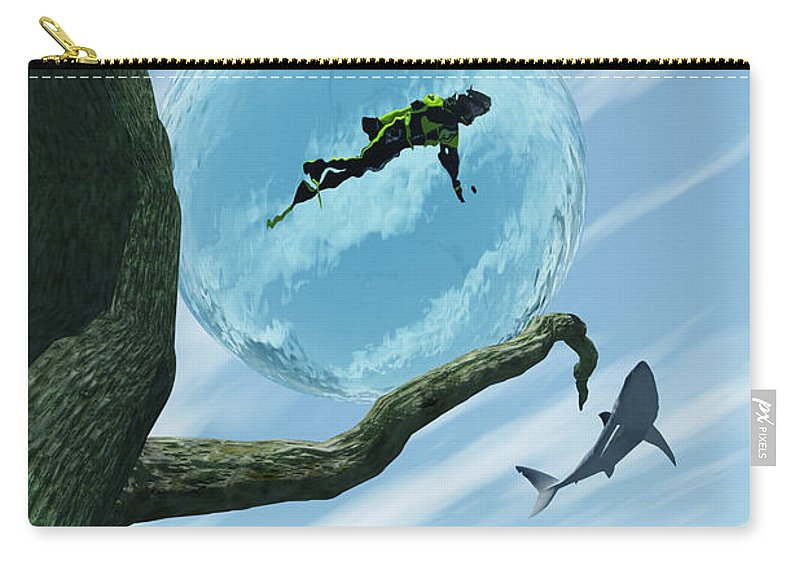 Surreal Carry-all Pouch featuring the digital art Bait by Richard Rizzo