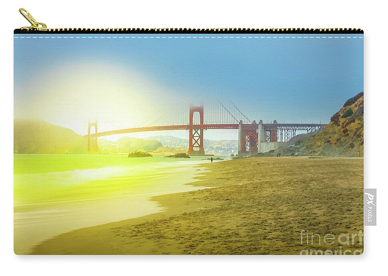 Golden Gate Bridge Carry-all Pouch featuring the photograph Baker Beach In San Francisco by Benny Marty