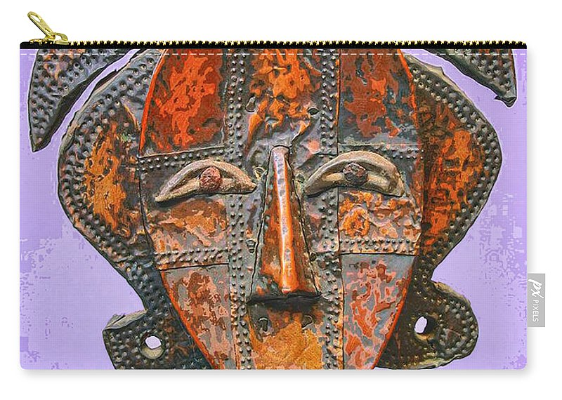 Mixed Media Carry-all Pouch featuring the mixed media Bakota Reliquary by Dominic Piperata