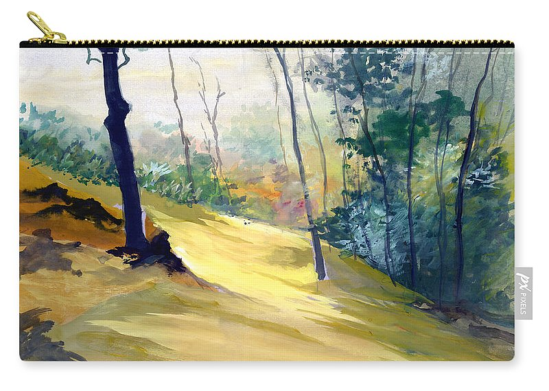 Landscape Carry-all Pouch featuring the painting Balance by Anil Nene
