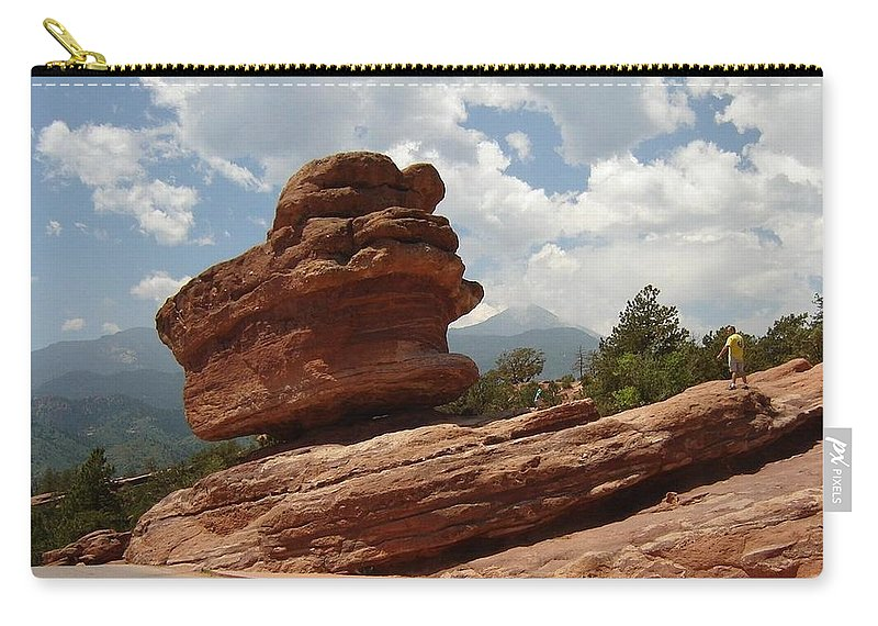 Colorado Carry-all Pouch featuring the photograph Balance Rock by Anita Burgermeister