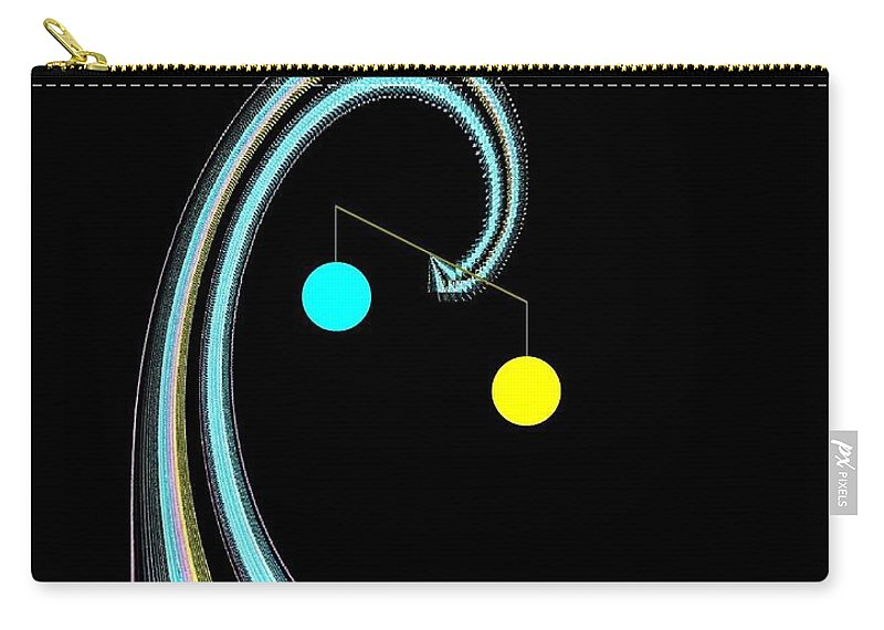 Abstract Carry-all Pouch featuring the digital art Balance by Will Borden