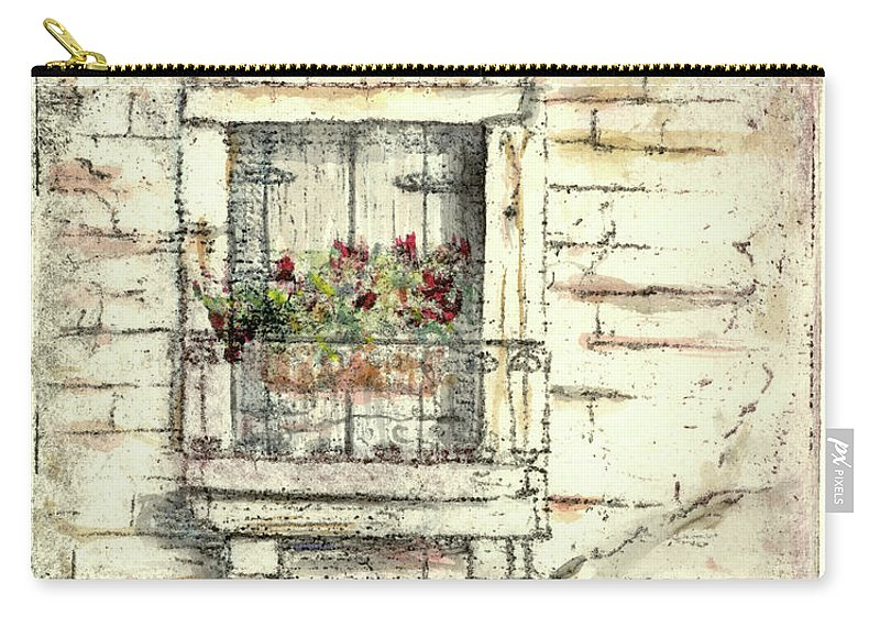 Venice Carry-all Pouch featuring the painting Balcony Venice by Richard Bulman