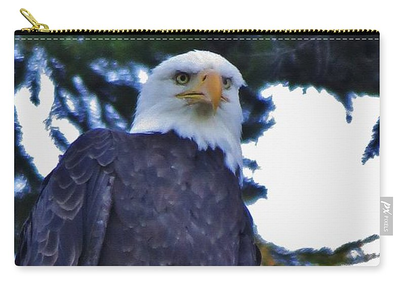 Bald Eagle Carry-all Pouch featuring the photograph Eagle Eye by Mel Manning