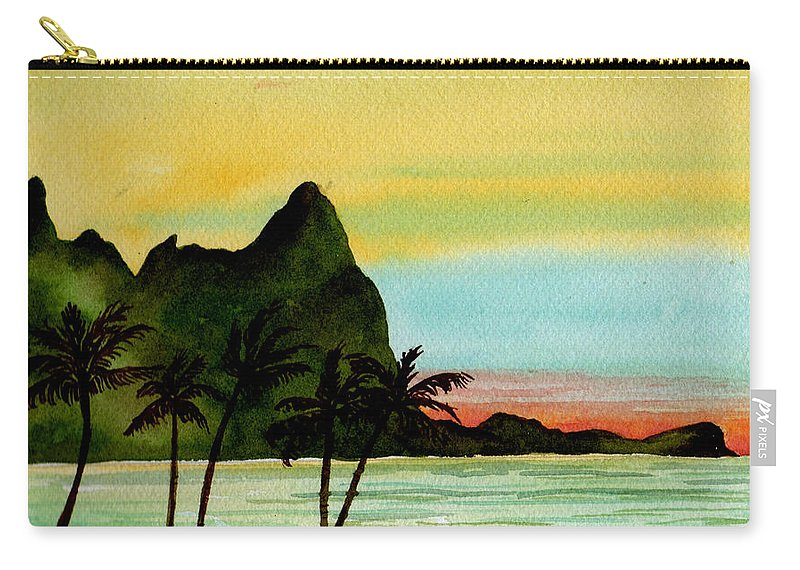 Watercolor Carry-all Pouch featuring the painting Bali Hi Kauai by Brenda Owen