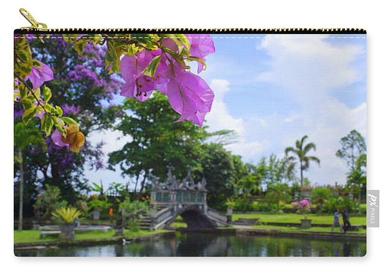 Carry-all Pouch featuring the photograph Bali Reflections by Todd Hummel