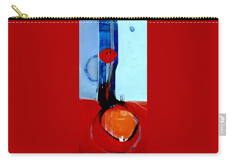 Abstract Carry-all Pouch featuring the painting Ball And Chain Outcome by Marlene Burns