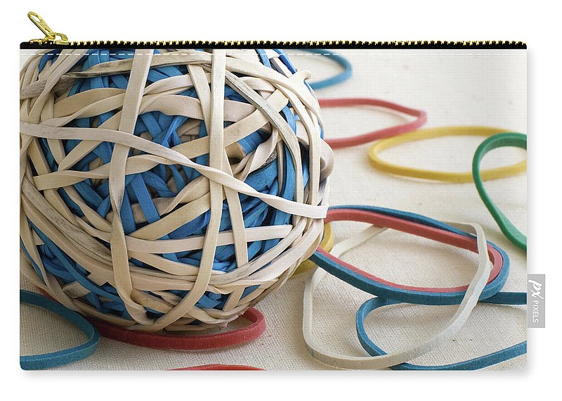 Abstract Carry-all Pouch featuring the photograph Ball Of Bands by Alan Look