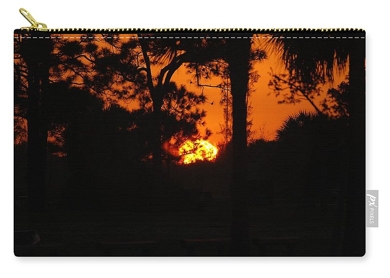 Landscape Carry-all Pouch featuring the photograph Ball Of Fire by Rob Hans