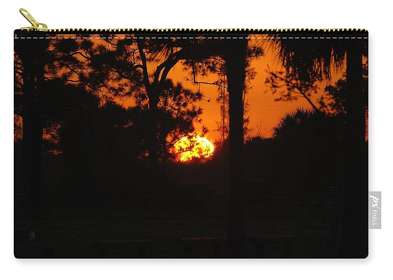 Nature Carry-all Pouch featuring the photograph Ball Of Sun by Rob Hans