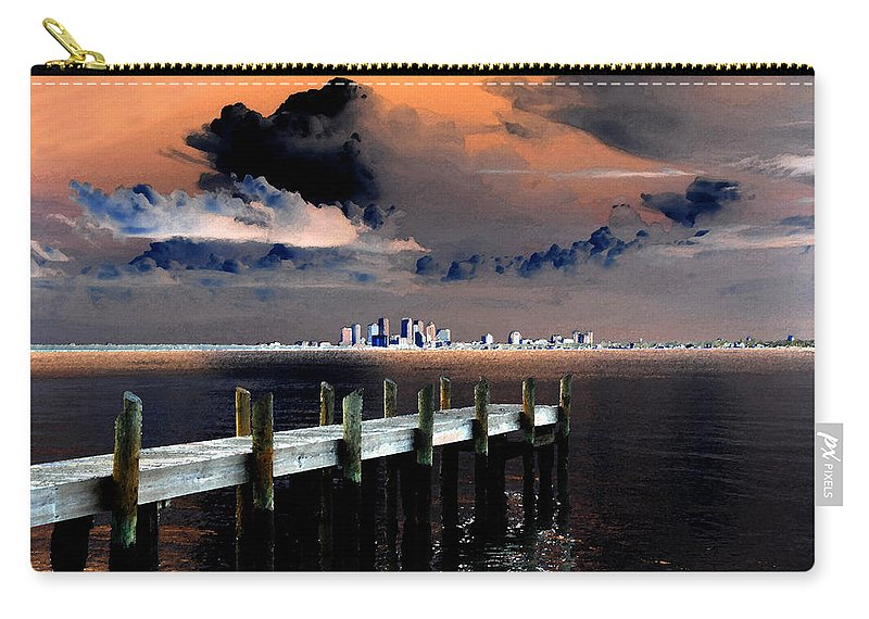 Art Carry-all Pouch featuring the painting Ballast Point by David Lee Thompson
