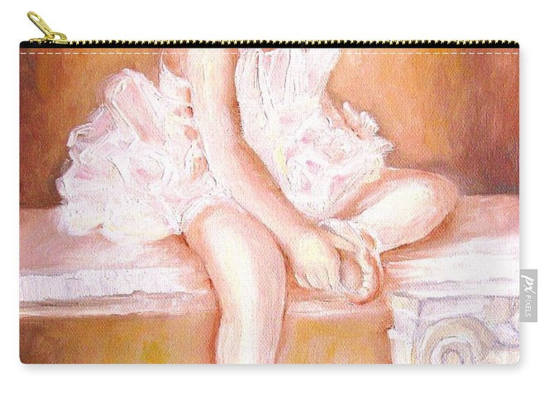 Ballerina Carry-all Pouch featuring the painting Ballerina by Carole Spandau