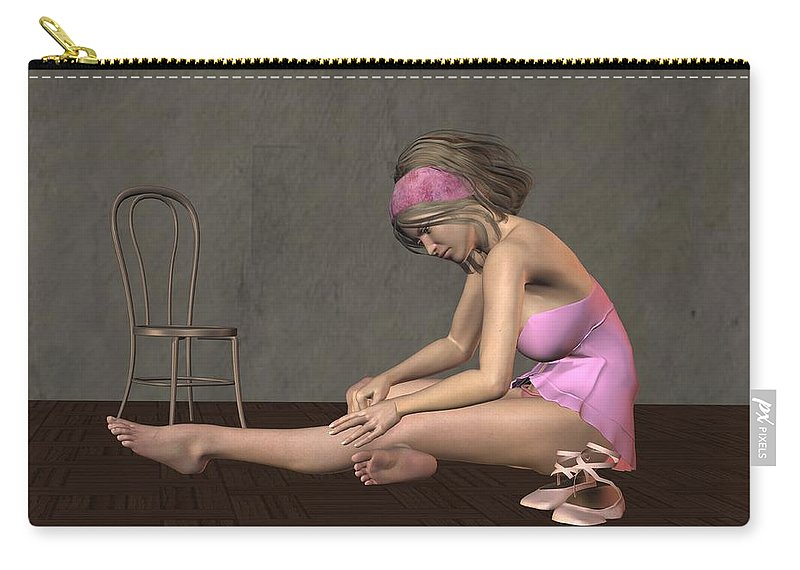 Dancer Carry-all Pouch featuring the digital art Ballerina by John Junek