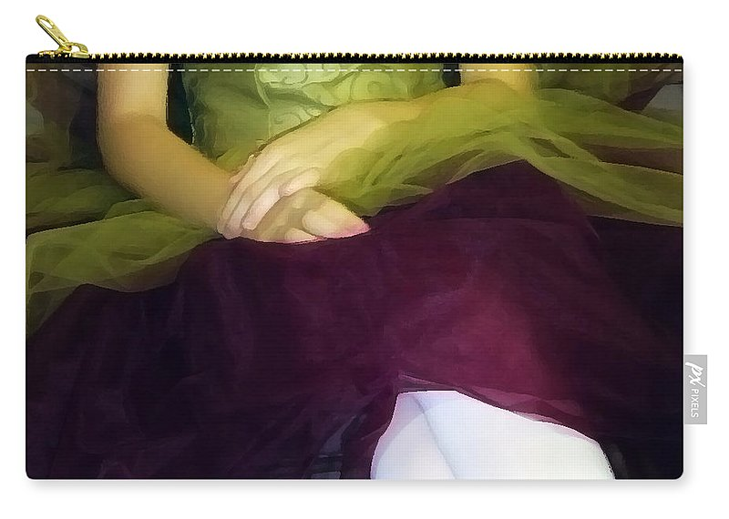 Abstract Carry-all Pouch featuring the photograph Ballerina Lap by Angelina Vick