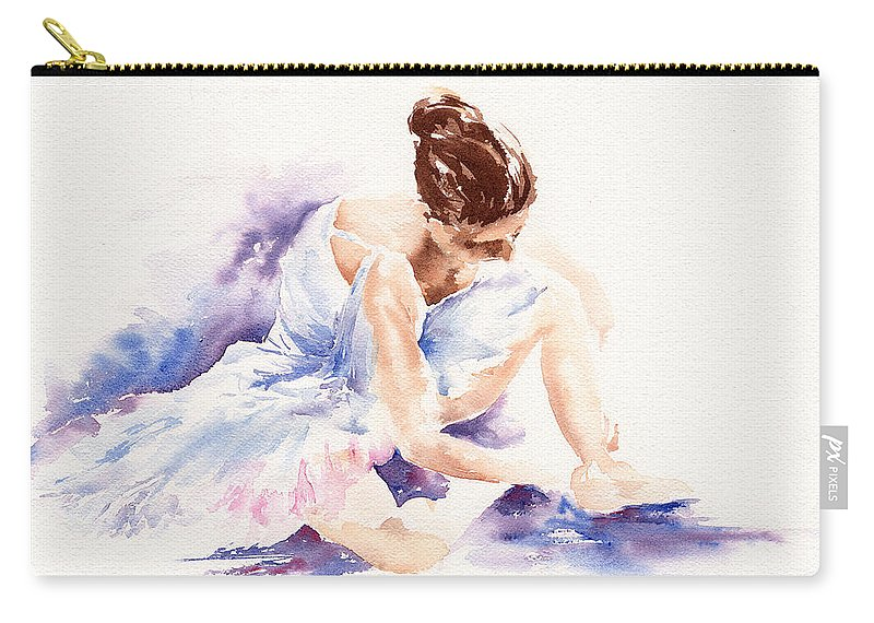 Ballerina Carry-all Pouch featuring the painting Ballerina by Stephie Butler