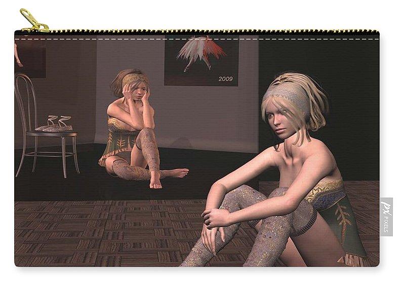 Ballerina Carry-all Pouch featuring the digital art Ballerinia by John Junek