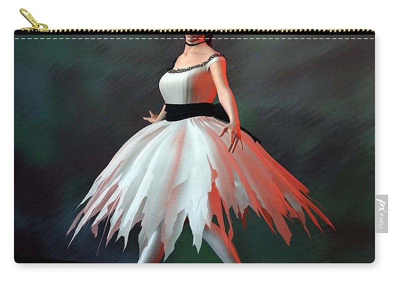 Ballet Carry-all Pouch featuring the digital art Ballet Dancer by John Junek