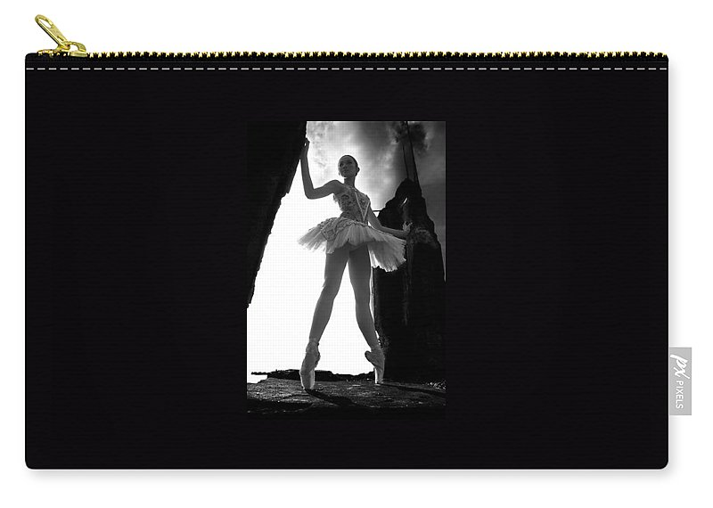 Ballet Dancer Carry-all Pouch featuring the photograph Ballet Dancer1 by George Cabig