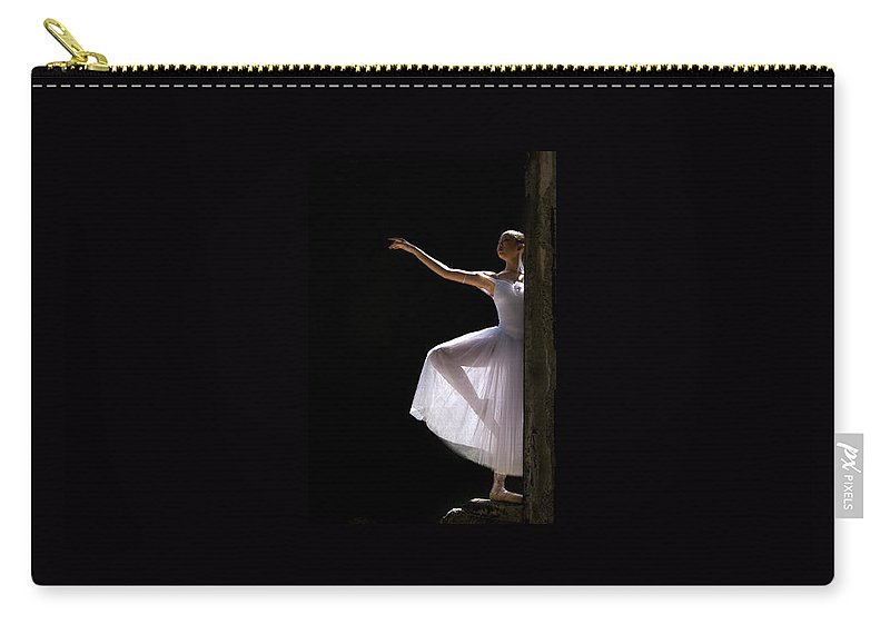 Ballet Dancer Carry-all Pouch featuring the photograph Ballet Dancer6 by George Cabig